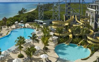 Dreams Natura Riviera Cancun, family all inclusive resort with waterslides